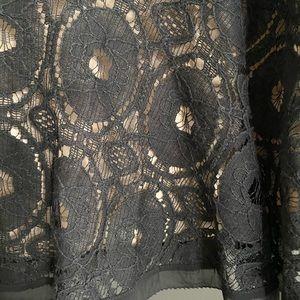 Ann Taylor Black/Tan Flounce Skirt 8T